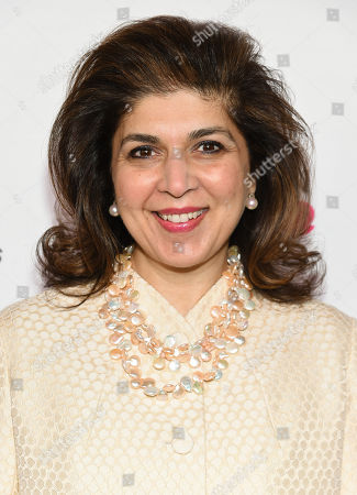 Special Representative to Muslim Communities for the United States Department of State, Farah Pandith, arrives at the 7th Annual Women in the World Summit opening night at the David H. Koch Theater, in New York