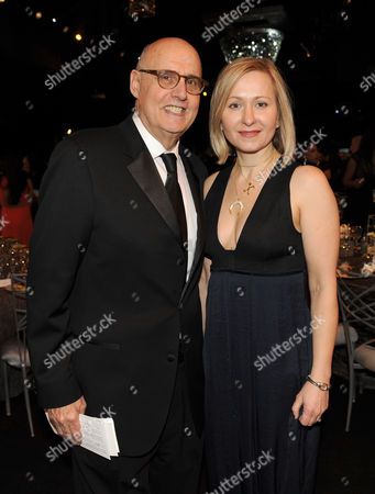 Stock Photo of Jeffrey Tambor and Joyce Carel in the audience at the 20th annual Screen Actors Guild Awards at the Shrine Auditorium, in Los Angeles