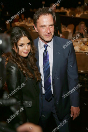 Selena Gomez, left, and Tim DeKay attend the 22nd Annual Alliance for Children's Rights Dinner at The Beverly Hilton Hotel on in Beverly Hills, Calif