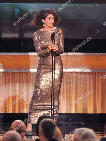 Gaby Hoffman speaks on stage at the 22nd annual Screen Actors Guild Awards at the Shrine Auditorium & Expo Hall, in Los Angeles