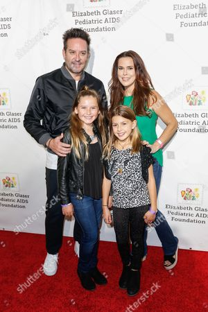 "Rosa Blasi, top right, and Todd William Harris, top left arrive at the 27th Annual ""A Time for Heroes"" Family Festival, in Culver City, Calif"