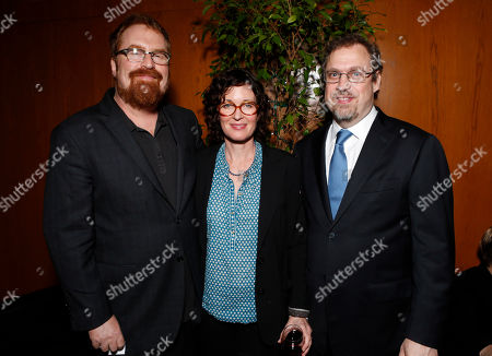 RJ Cutler, Molly O'Brien and David Tedeschi attend the 28th Annual IDA Documentary Awards A&E Reception Honoring Arnold Shapiro at the DGA Theater on in Los Angeles, California
