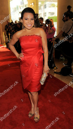 Actress Gloria Garayua poses at the 28th Annual Imagen Awards at the Beverly Hilton Hotel on in Beverly Hills, Calif