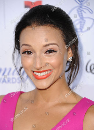 Stock Image of Danielle Vega arrives at the 30th annual Imagen Awards at the Dorothy Chandler Pavilion, in Los Angeles