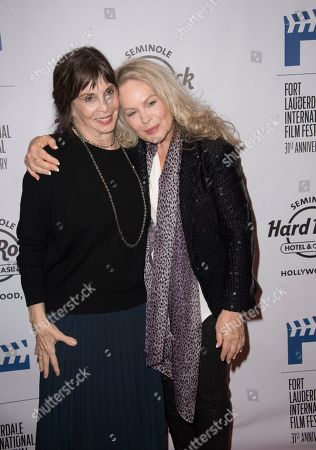 """Talia Shire, left, and Beverly D'Angelo attend the 31st Annual FLIFF - Opening Night Premiere of """"Dreamland"""" at Seminole Hard Rock Live, in Hollywood, Fla"""