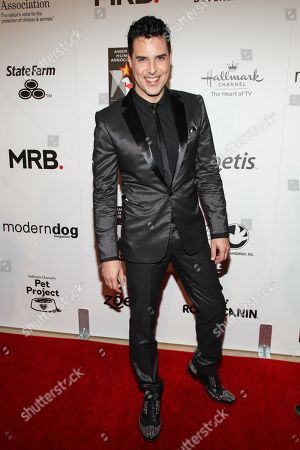 Musician Frankie Moreno arrives at the 3rd Annual American Humane Association Hero Dog Awards at the Beverly Hilton Hotel on in Beverly Hills, Calif
