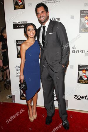 Stock Picture of Football player Matt Leinart and actress Josie Loren arrive at the 3rd Annual American Humane Association Hero Dog Awards at the Beverly Hilton Hotel on in Beverly Hills, Calif