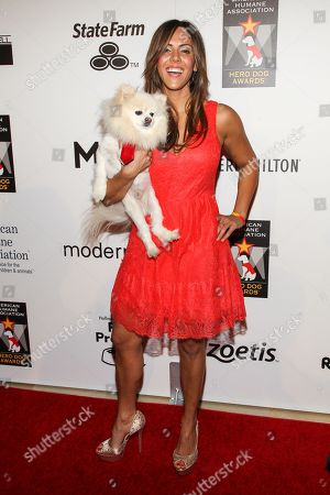 Stock Image of Actress Laura Nativo arrives at the 3rd Annual American Humane Association Hero Dog Awards at the Beverly Hilton Hotel on in Beverly Hills, Calif