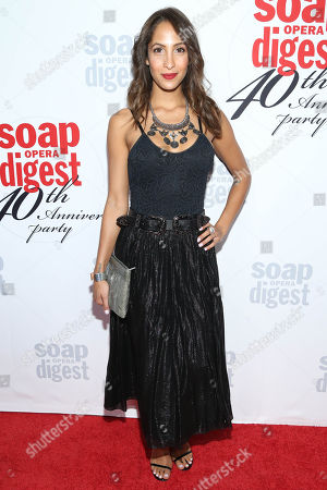 Christel Khalil arrives at the 40th Anniversary of Soap Opera Digest at The Argyle Hollywood, in Los Angeles