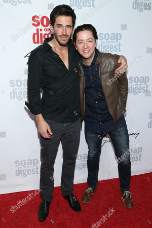 Brandon Beemer and Bradford Anderson arrive at the 40th Anniversary of Soap Opera Digest at The Argyle Hollywood, in Los Angeles