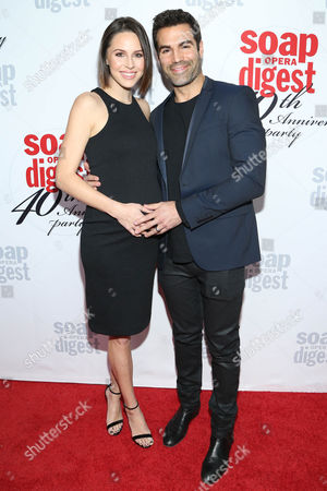 Kaitlin Vilasuso and Jordi Vilasuso arrive at the 40th Anniversary of Soap Opera Digest at The Argyle Hollywood, in Los Angeles