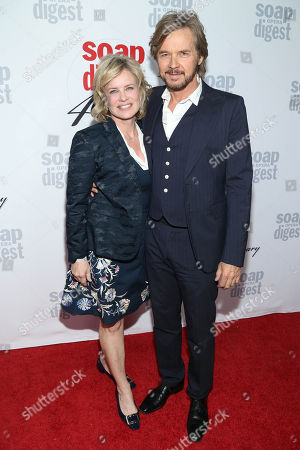 Mary Beth Evans and Stephen Nichols arrive at the 40th Anniversary of Soap Opera Digest at The Argyle Hollywood, in Los Angeles