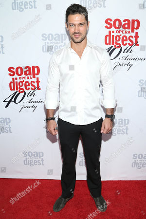 Ryan Paevey arrives at the 40th Anniversary of Soap Opera Digest at The Argyle Hollywood, in Los Angeles