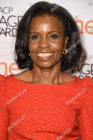 Misan Sagay attends the 46th NAACP Image Awards Nominees' Luncheon at The Beverly Hilton Hotel, in Beverly Hills, Calif