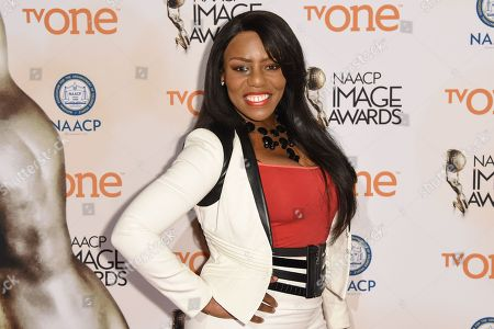 Stock Picture of Denee Busby attends the 46th NAACP Image Awards Nominees' Luncheon at The Beverly Hilton Hotel, in Beverly Hills, Calif