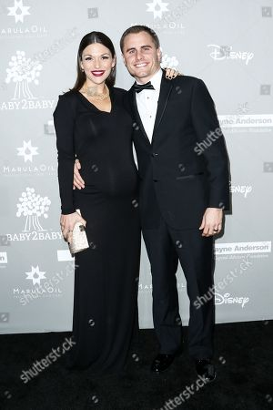 DeAnna Pappas, left, and Stephen Stagliano attend the 4th Annual Baby2Baby Gala held at 3Labs, in Culver City, Calif