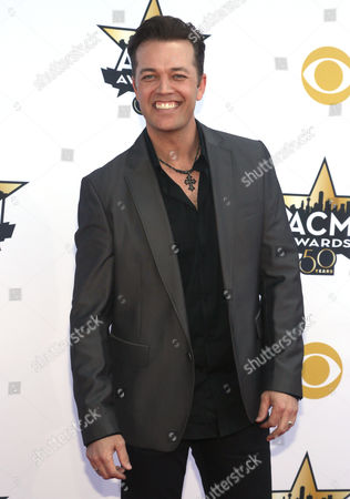 Lucas Hoge arrives at the 50th annual Academy of Country Music Awards at AT&T Stadium, in Arlington, Texas