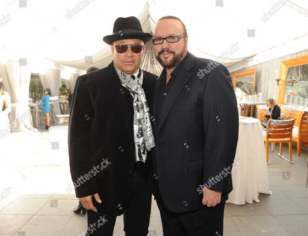 Stock Photo of From left, producers Narada Michael Walden and Desmond Child attend ASCAP Presents The 2014 Grammy Nominee Brunch, at the SLS Hotel at Beverly Hills on in Beverly Hills, Calif