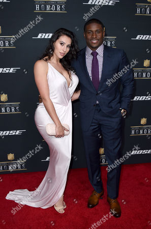 Reggie Bush of the San Francisco 49ers, right, and Lilit Avagyan arrive at the 5th annual NFL Honors at the Bill Graham Civic Auditorium, in San Francisco