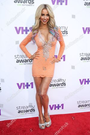 Syd Wilder arrives at the 5th Annual Streamy Awards at the Hollywood Palladium, in Los Angeles