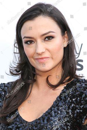 Natasha Negovanlis arrives at the 5th Annual Streamy Awards at the Hollywood Palladium, in Los Angeles