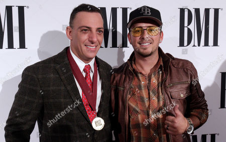 Trent Tomlinson, left, and Stephen Barker Liles are seen at the 63rd Annual BMI Country Awards at BMI's Music Row offices, in Nashville, Tenn