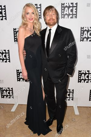 Janne Tyldum, left, and Morten Tyldum attend the 65th Annual ACE Eddie Awards at the Beverly Hilton Hotel, in Beverly Hills, Calif