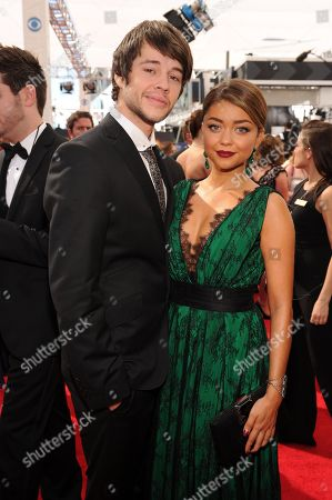 Stock Picture of From left, Matt Prokop Sarah Hyland arrives at the 65th Primetime Emmy Awards at Nokia Theatre, in Los Angeles