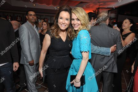 From left, Mary McDonnell and Sarah Paulson attend the 2013 Entertainment Weekly Pre-Emmy Party, presented by L'Oreal Paris and bebe at Fig & Olive, in Los Angeles