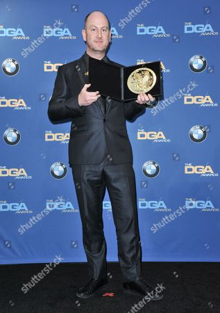 Stock Picture of Martin de Thurah poses in the press room of the the 66th Annual DGA Awards Dinner at the Hyatt Regency Century Plaza Hotel, in Los Angeles, Calif