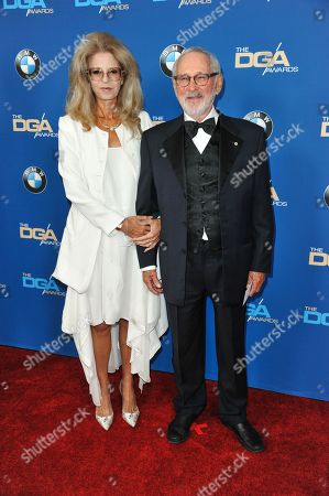 Lynne St. David, left, and Norman Jewison arrive at 66th Annual DGA Awards Dinner at the Hyatt Regency Century Plaza Hotel, in Los Angeles, Calif