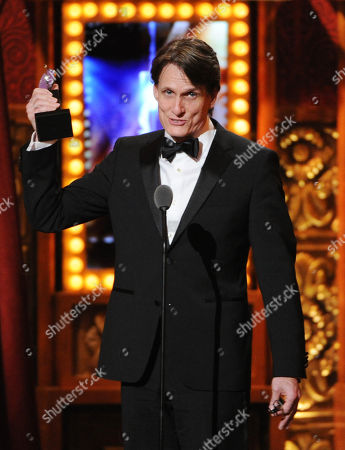 "John Shivers accepts award for best sound design for ""Kinky Boots"" at the 67th Annual Tony Awards, on in New York"