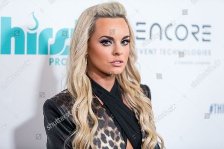 Katy Tiz attends the 6th Annual Thirst Gala at The Beverly Hilton Hotel on in Beverly Hills, Calif