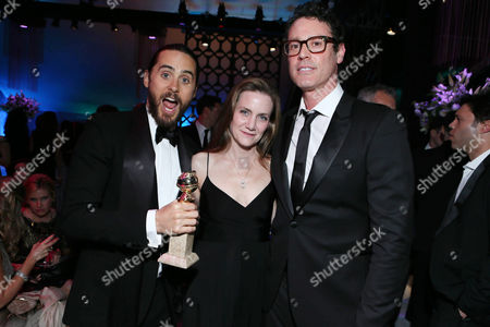 "Jared Leto, Screenplay Writer Melisa Wallack and Screenplay Writer Craig Borten seen at the 71st Annual Golden Globe Awards â?"" NBC/Universal/Focus Features/E! Entertainment/Chrysler After Party on in Los Angeles"