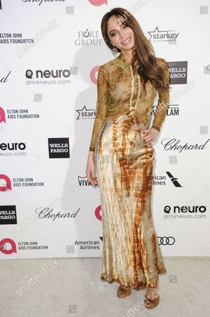 Stock Photo of Oksana Grigorieva arrives at the 87th Academy Awards - 2015 Elton John AIDS Foundation Oscar Party, in West Hollywood, Calif