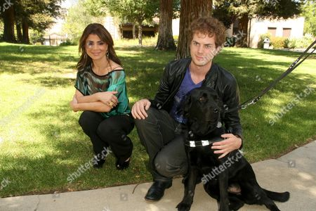 Editorial picture of Paula Abdul donates a Guide Dog to blind American Idol contestant Scott MacIntyre, Los Angeles, America - 08 May 2009