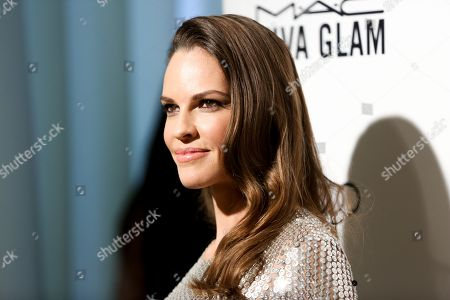 Stock Picture of Hillary Swank arrives at the 2016 Elton John AIDS Foundation Oscar Viewing Party at West Hollywood Park, in West Hollywood, Calif