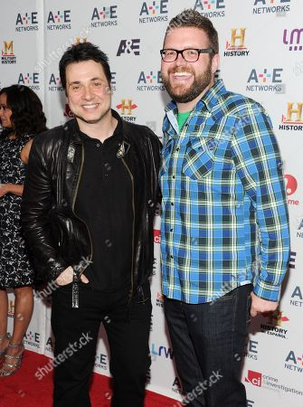 "Top Gear"" cast members Adam Ferrara, left, and Rutledge Wood attend the A+E Networks 2013 Upfront on in New York"