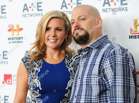 "Storage Wars"" cast members Brandi Passante and Jarrod Schulz attend the A+E Networks 2013 Upfront on in New York"