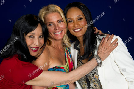 "Models China Machado, left to right, Kim Alexis and Beverly Johnson featured in the documentary ""About Face: Supermodels Then and Now"" pose for a portrait on in New York"