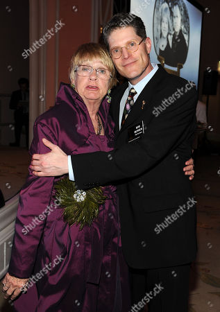 Stock Image of MARCH 1: Kathryn Joosten and Bob Bergen attend the Academy of Television Arts & Sciences 21st Annual Hall of Fame Ceremony at the Beverly Hills Hotel on in Beverly Hills, California