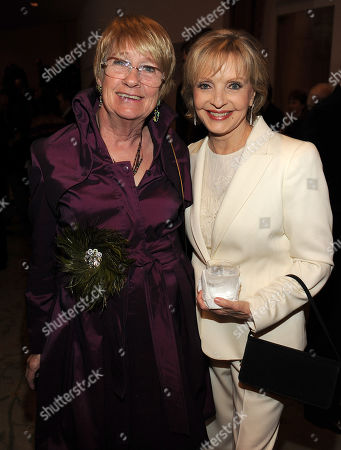 MARCH 1: Actors Kathryn Joosten (L) and Florence Henderson attend the Academy of Television Arts & Sciences 21st Annual Hall of Fame Ceremony at the Beverly Hills Hotel on in Beverly Hills, California