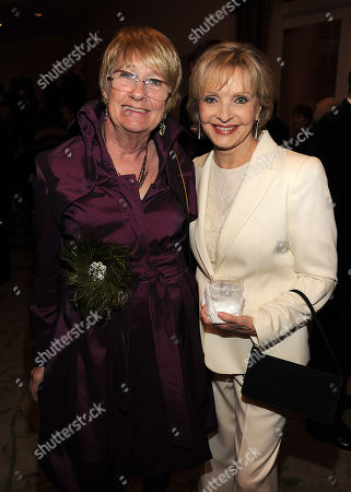 Stock Picture of MARCH 1: Actors Kathryn Joosten (L) and Florence Henderson attend the Academy of Television Arts & Sciences 21st Annual Hall of Fame Ceremony at the Beverly Hills Hotel on in Beverly Hills, California