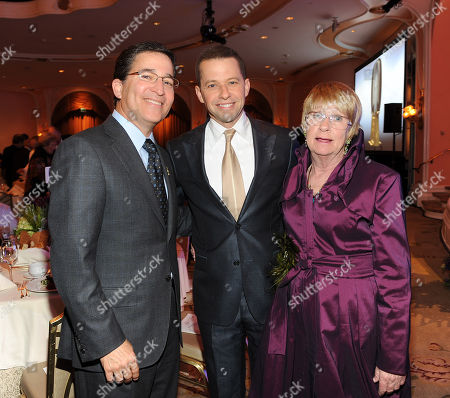 Stock Photo of MARCH 1: (L-R) Television Academy Chairman & CEO Bruce Rosenblum, actor Jon Cryer, and actor Kathryn Joosten attend the Academy of Television Arts & Sciences 21st Annual Hall of Fame Ceremony at the Beverly Hills Hotel on in Beverly Hills, California