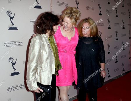 """Stock Image of MAY 16: (L-R) Comediennes Lily Tomlin, Caroline Rhea and Elayne Boosler arrive at the Academy Of Television Arts & Sciences Presents: """"A Conversation With Ladies Who Make Us Laugh,"""" an evening with the ladies who have made an outstanding contribution in the field of comedy, held at the Leonard H. Goldenson Theatre on in North Hollywood, California. A live webcast of the discussion can be viewed on the Academy of Television Arts & Sciences website, www.emmys.com and www.emmys.tv"""