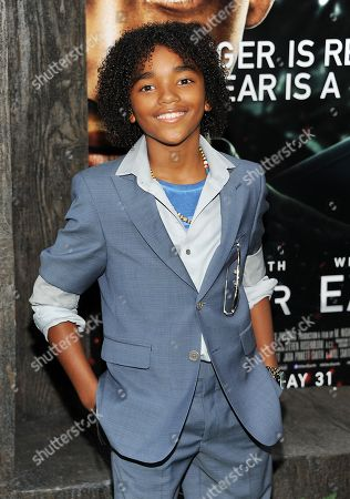 """Stock Photo of Actor Jaden Martin attends the """"After Earth"""" premiere at the Ziegfeld Theatre on in New York"""