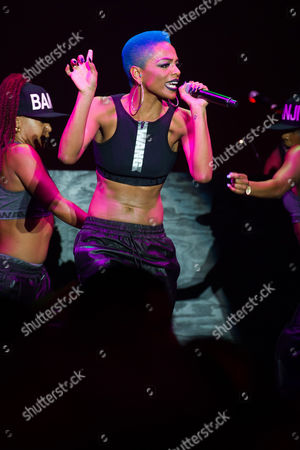 Stock Image of Sharaya J performs at the Alexander Wang x H&M collection launch event on in New York