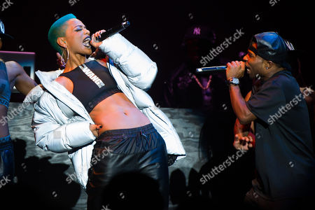 Stock Picture of Sharaya J performs at the Alexander Wang x H&M collection launch event on in New York