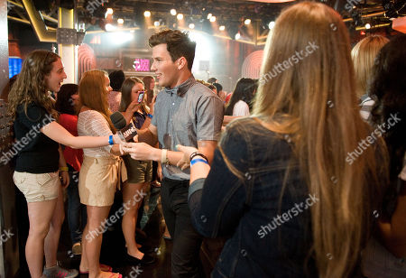 Stock Photo of Singer Zachary Porter of the band Allstar Weekend arrives at New.Music.Live. at the MuchMusic HQ, in Toronto