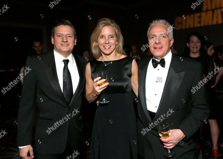 Ted Sarandos, Barbara Nash and Mark Badaglia attend the American Cinematheque 26th Annual Award Presentation To Ben Stiller 2012 at The Beverly Hilton Hotel on in Beverly Hills, California